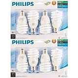 Philips 823031 CFL Light Bulb 13W T2 Twister Daylight 6500K, 60 Watt Equivalent; 8-Pack