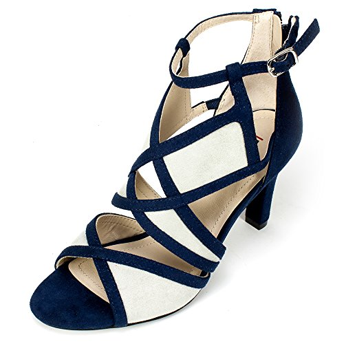 Rialto Shoes 'RIA' Women's Heel, Midnight - 10 - Midnight Blue Shoes