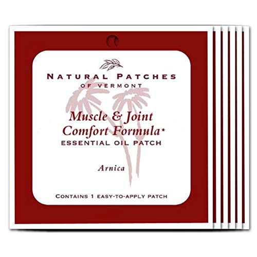 Natural Patches Of Vermont Arnica Muscle & Joint Comfort Essential Oil Body Patch, Single Patch Pouch (Pack of 6) ()