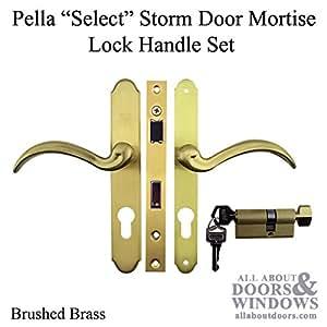 Pella Select 6000 Series Mortise Lock Storm Door Hardware Trim   Brushed  Brass