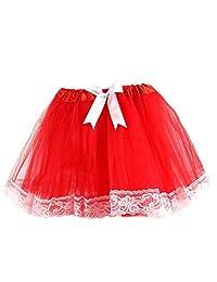 SK Studio Girls 3-layered Tutu Skirt with Bowknot Free Size