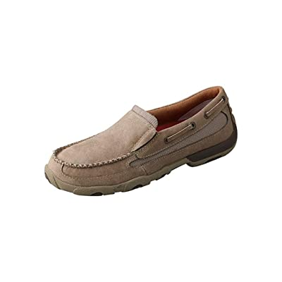 Twisted X Boots Womens Slip On Boat Shoe 6 B(M) US Dusty Tan: Sports & Outdoors