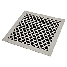SteelCrest BTU14X14RWHH Bronze Series Designer Wall/Ceiling Vent Cover, with Mounting Screws, White
