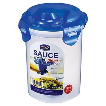 Lock & Lock Classic - Recipiente redondo para aceite y salsas, 490 ml