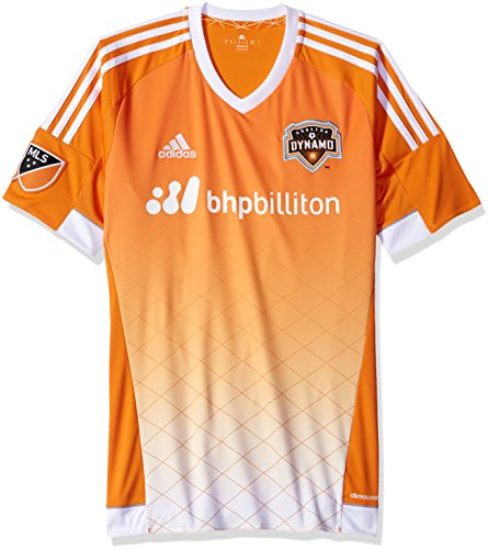MLS Houston Dynamo Men's Replica Short Sleeve Jersey, Small, Orange by adidas
