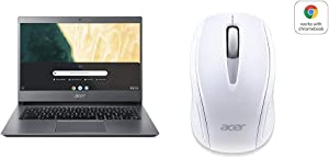 Acer Chromebook 714 CB714-1WT-3447, 8th Gen Intel Core i3-8130U with Acer Wireless White Mouse M501 - Certified by Works With Chromebook