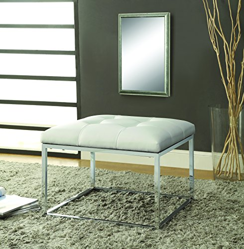 white and chrome coffee table - 6