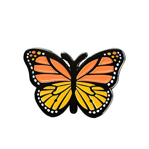 Enamel Butterfly Pin - GuDeKe Monarch Butterfly Enamel Pin