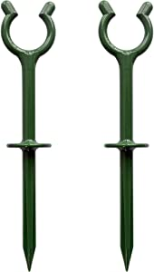 """BAOLONG Garden Hose Guide Holder Spike Stake Lawn Hose Support Plant Saver Set of 10 for Garden/Lawn/Yard(Fit in 3/4""""Hoses)"""
