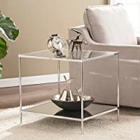Southern Enterprises Knox Glam Mirrored End Table in Chrome