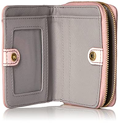 Fossil Emma Rfid Mini Multifunction-powder Pink Wallet