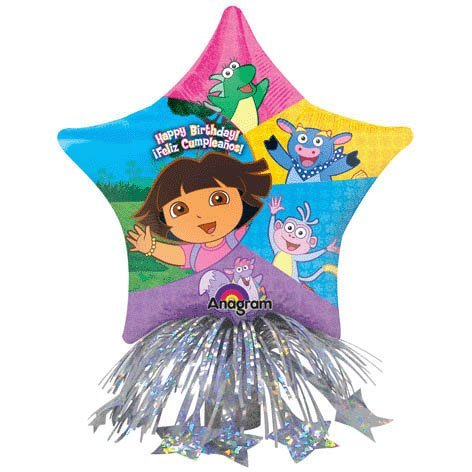 Dora Birthday Star Balloon Centerpiece (Blue/Green/Yellow/Red) Party Accessory