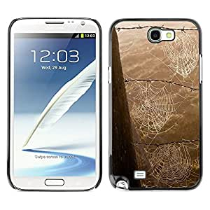 MOBMART Carcasa Funda Case Cover Armor Shell PARA Samsung Note 2 N7100 - Strings Of Spider Webs