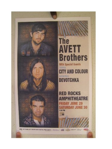 Rock Concert Poster (The Avett Brothers Poster Concert Gig Red Rocks)