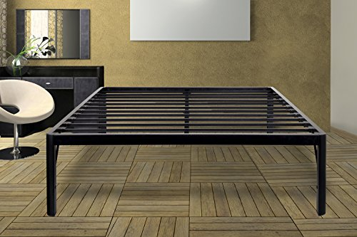 Olee Sleep 18inch Tall Round Edge Steel Slat / Non-slip Support S-3500 High Profile Platform Bed...