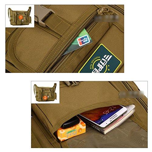 YAAGLE A 4 Schultasche groß Fassungsvermögen Reisetasche wasserdicht Herren IPAD Kuriertasche 14 zoll Laptoptasche Schultertasche Tarnung 1 FaWJ16z