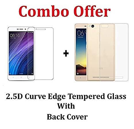 cheap for discount f41c2 25333 MGRJ Transparent Back Cover + Tempered Glass Screen Protector Crystal Clear  Hd Glass For Xiaomi Redmi 4A