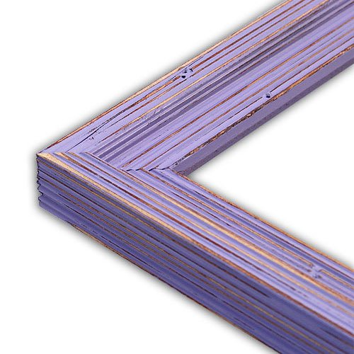 The Rusty Roof Distressed Cimarron French Lilac Picture Frame-Solid Wood, 8.5x11 -