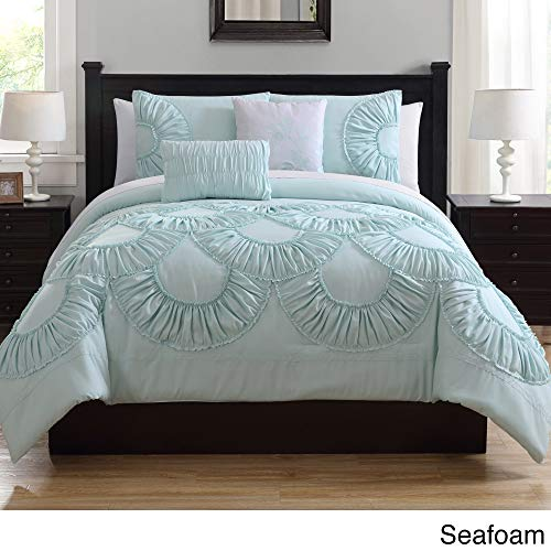 White Birch Toulouse Ruffled Comforter Set Green ()