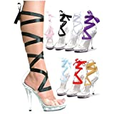 GSG Bella Glass Slipper Clear Pumps Fairy Costume High Heel Shoes