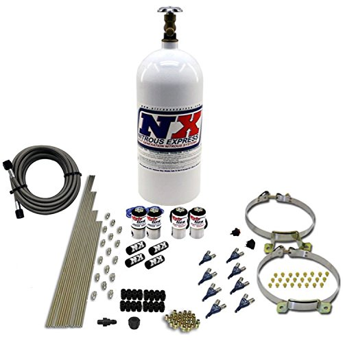 (Nitrous Express ML5000 50-250 WHP MainLine EFI Direct Port Nitrous System with 10 lbs. Bottle)