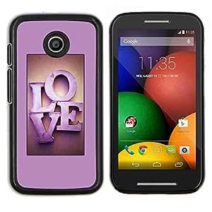 Stuss Case / Funda Carcasa protectora - Violet texte Lettres Honey Couple - Motorola Moto E ( 1st Generation )
