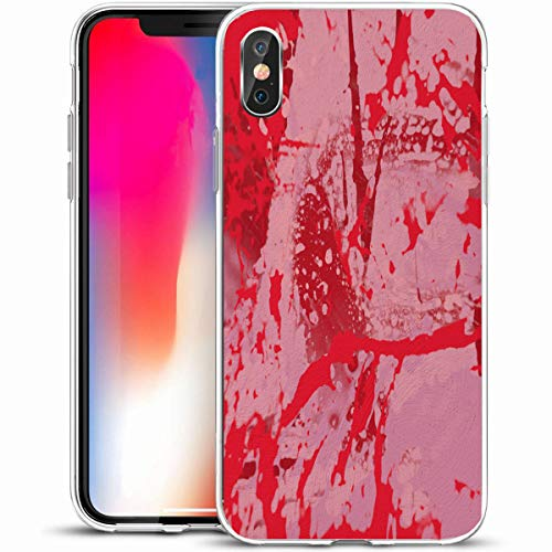 "LifeCO Custom Phone Case Cover for iPhone X/XS 5.8"",Modern Aged Ink Hand Made Painting Abstract Wall Tempera Creative Contemporary Artistic Canvas,Anti-Scratch Protective Soft Rubber Gel/TPU"