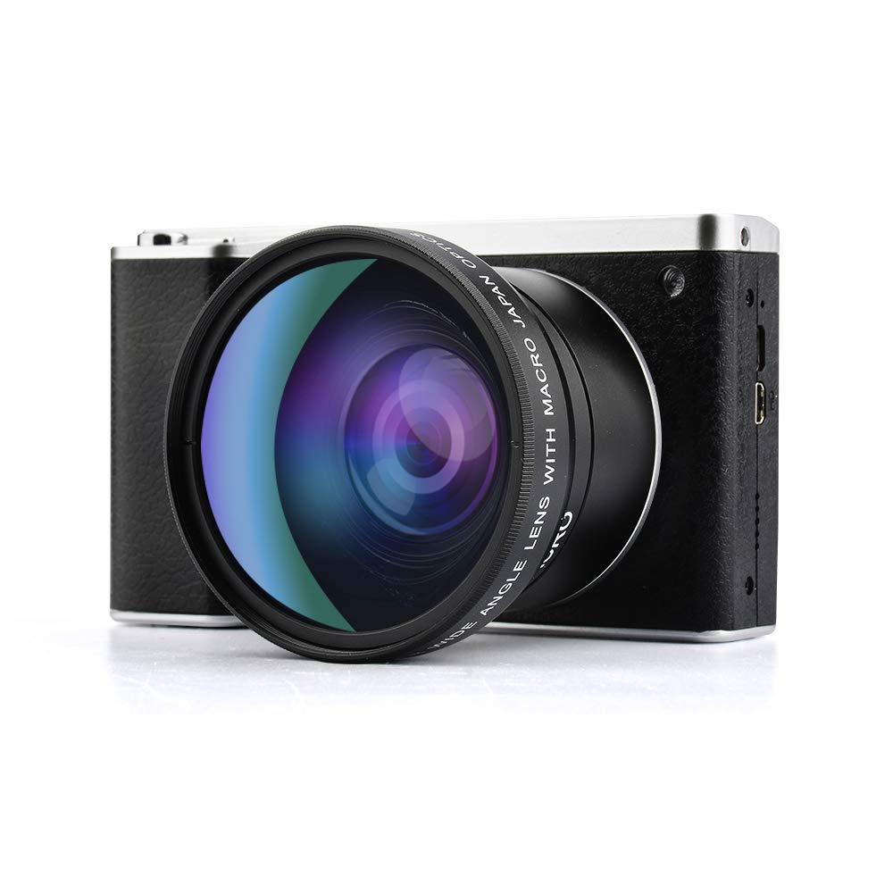 Digital Camera,Vlogging Camera 4.0 Inch Touch Monitor 24MP FHD 1080P Wide Angle Lens YouTube Camera 8X Digital Zoom Camera with Flash Microphone by GordVE