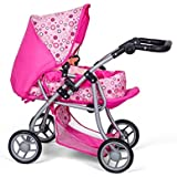 MINI MOMMY DISVALTOYS Carro de muñecas 3 en 1 - Transformable en sillita - Capazo extraible