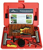 Boulder Tools - 56 Pc Heavy Duty Tire Repair Kit For Car, Truck, Jeep, ATV, Motorcycle, Tractor. Flat Tire Puncture Repair