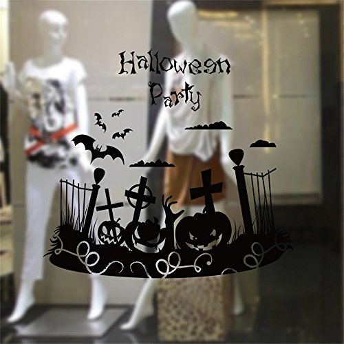 OTTATAT Wall Stickers for Bathrooms 2019,Happy Halloween Home Household Room Mural Decor Decal Removable New Easy to Peel Wedding Night Wedding Night Gift for Lover Free Deliver Clearance -