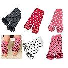 Toptim Baby Leg Warmers 5 Pairs Toddlers & Children Tight Socks Knitted Legging (Dot 5 Pairs)