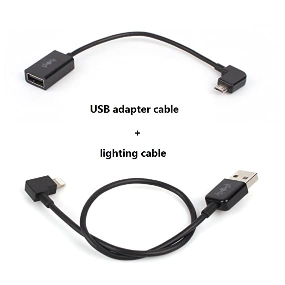 wholesale dealer 7d26d d3981 IRCtek USB Adapter Cable USB Data Converting Cable & Lighting Cable for DJI  Spark / Mavic Remote Controller, Replace Wifi Connection, Support iphone ...