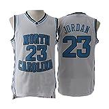 meetziis Men's #23 Basketball Jerseys Retro Jersey White and Blue(S-XXL) (XXL)