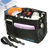 kilofly 2-in-1 Baby Diaper Bag Insert Stroller Organizer + 2 Attachable Straps