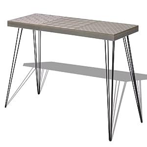 Tuduo Tavolo Consolle 90x30x71,5 cm Grigio Design Unico, Moderno e Elegante Tavolo consolle Ingresso