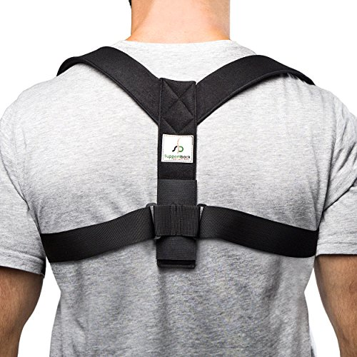 Supportiback Posture Therapy Upper Back Brace, Posture Corrector and...