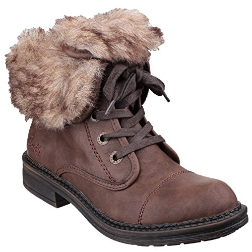 Ladies Blowfish Womens Farina Brown Coffee Down Military Boot Roll Fw5URfw