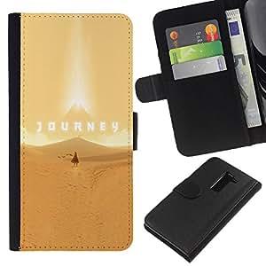LECELL--Cuero de la tarjeta la carpeta del tirón Smartphone Slots Protección Holder For LG G2 D800 -- Viaje juego --