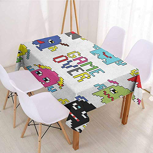 ScottDecor Table Cover Christmas Tablecloth W 60