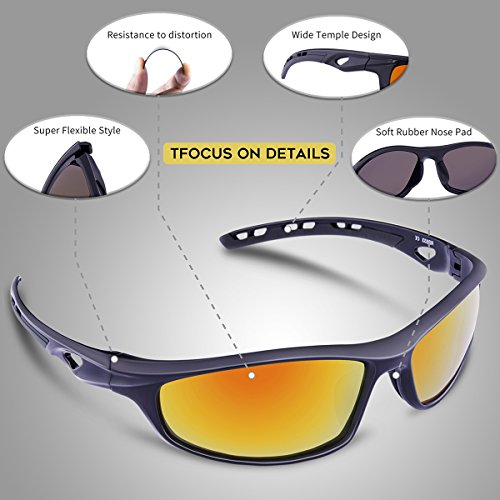 Hombre RB833 para Gafas black Grey Montura Black béisbol lens polarizadas and rainbow irrompible 833 RB833 y Medium para RB833 Mujer de Sol and Running Hombre Ciclismo RIVBOS Black Grey ZRnWdvwqw