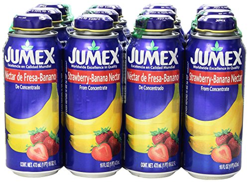 Jumex Lata Botella, Strawberry/Banana, 16.90 Ounce (Pack of 12)