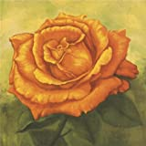 Canvas Prints Of Oil Painting ' Yellow Rose In Full Bloom ' , 20 x 20 inch / 51 x 51 cm , High Quality Polyster Canvas Is For Gifts And Dining Room, Foyer And Laundry Room Decoration, graphy