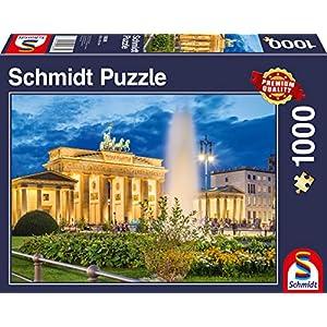 Schmidt Spiele 58385 Puzzle Da 1000 Pezzi Torre Di Brandeburgo Berlino Multicolore