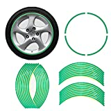 """E-TING 17"""" Green Reflective Motorcycle Wheel Rim Stripe Decal Tape Sticker Buy 2 Get 1"""