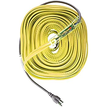 WRAP-ON Pipe Heating Cable - 60-Feet, 120 Volt, Built-in Thermostat, Low Wattage - 31060