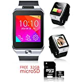 Indigi® NEW SmartWatch 3G Android 4.4 KitKat WiFi GPS Google Play - Free 32gb SD