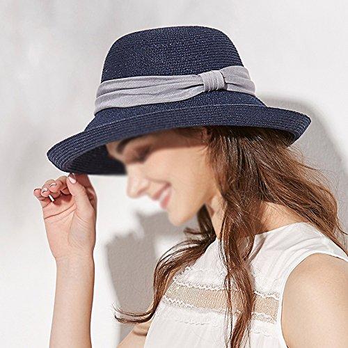 Visor color A B Viento Femenina Anti Paja Ajustable Verano A uv Transpirable Zxqz Sombrero Solar Gorro Protección De Playa Plegable Prueba Sol yHzRqg