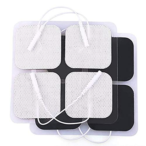 TENS Unit Pads, 40PCS, 2x2 Electrodes for EMS Muscle Stimulator Massager Medical Electrotherapy Pads, Reusable and Latex-Free (Pads Tens Electrode Units)