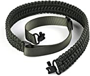SOMA 2 Point Paracord Rifle Sling with Swivels Adjustable Shotgun Sling for Hunting (Black)